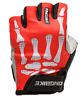 Cycling Bike Bicycle Gel Padded Half Finger Fingerless Gloves Mens Red
