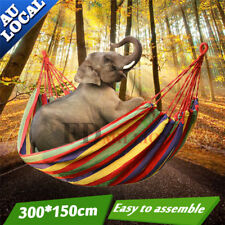Double Cotton Air Chair Hammock Hanging Swinging Camping Outdoor Sleep 300x150cm