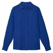 GANT Womens Front Pocket Linen Shirt - Blue