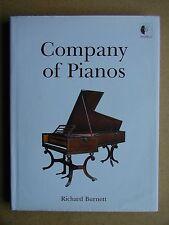 Company of Pianos. Richard Burnett. 2004 HB DJ 1st Edn with CD. Signed. RARE