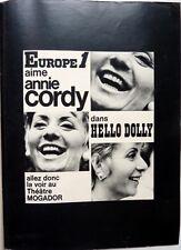 "ANNIE CORDY => COUPURE DE PRESSE 1 page ""Hello Dolly"" 1972 !!! CLIPPING"