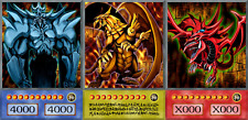 YUGIOH ORICA 3x-SET: GOD CARDS, RA SLIFER OBELISK | Yu-Gi-Oh! Anime