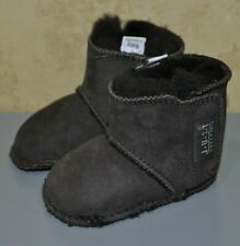 Just Sheepskin Chocolate Slippers Boots Winter Infant Babies 0-6 Months