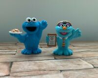 Telly Monster And Cookie Monster Plastic Figure Set Hasbro 2015 Cake Topper
