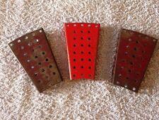 Vintage Meccano Parts No. 54 Flanged Sector Plates Pre 1980 x 3 No.