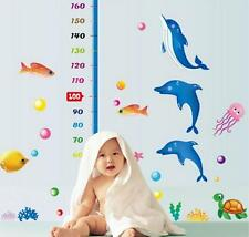Hight Ocean dolphins home bedroom Decor Removable Wall Sticker Decal Decoration