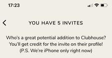 INVITO CLUBHOUSE iPhone
