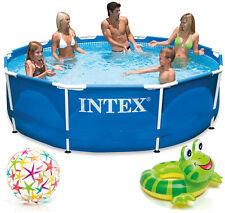 INTEX Metal Frame Swimming Pool  Schwimmbecken Schwimmbad 305 cm - 457 cm