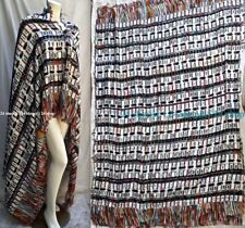 "NWOT CHANEL  2017-2018 DIGITAL-CODE SHAWL STOLE PONCHO HALTER DRESS  74""x 55"""