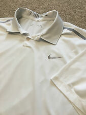 Magnifique Nike Golf Dri-Fit Tour Performance Blanc évacuant Polo Shirt XL Cost £ 70