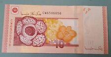 Fancy number radar CW 65 060 56 Malaysia UNC RM 10 Zeti