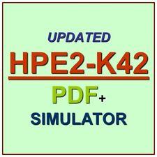 Designing HPE Nimble Solutions Test HPE2-K42 Exam QA PDF+Simulator