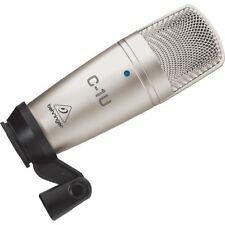 BEHRINGER C-1U USB microfono a condensatore per studio live radio speaker NUOVO