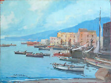 "Fontana01 - ""Scena Marina"". Olio su tavola  del pittore Fortunato Fontana"