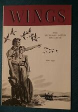 Wings May 1940 Literary Guild Magazine Booklet Book: White's Wild Geese Calling