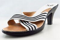 Sofft Slides White Leather Women Shoes Size 8 Medium (B, M)
