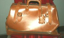 Mutual Brand Top Grain Cowhide Brown Leather Large Doctor Travel Bag Valise