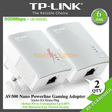 TP-Link TL-PA4010KIT AV500 500 Mbps Powerline Gaming TV Adapter Twin Pack