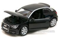 Audi A1 black, Bburago 22127, Scale 1:24, car gift toy kids boy