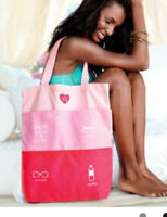 NWT Victoria's Secret Weekend Swim Tote Gym Duffle Carry on Bag Pink pockets
