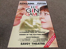 THE GIN GAME by D.L Coburn STRAND SAVOY Theatre Poster
