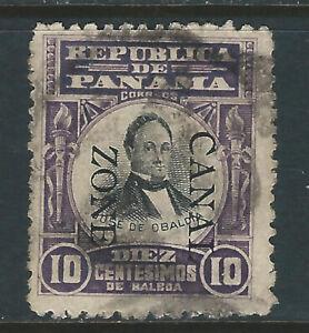 Bigjake: Canal Zone #26: 10 cent Obaldia  - Overprint Reading DOWN