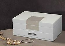 Kendal Quality Wooden Jewelry Box Case Storage with Piano Paint GQ1+1 (Cream) s3
