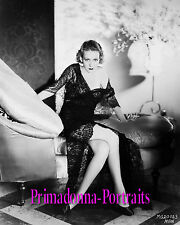 KAREN MORLEY 8X10 Lab Photo 1930s Sexy Lace Gown, Leggy Glam Gal Portrait