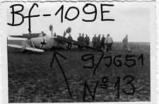 Orig. Foto, Luftwaffe Flugzeug, Messerschmitt Me-109E, Nr. 13, 9./JG 51 Jaeger
