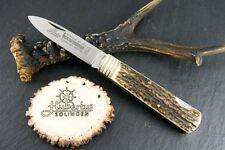 "HUBERTUS GERMAN HUNTING POCKET FOLDING KNIFE 2.95"" BLADE / STAG ** NEW in BOX **"