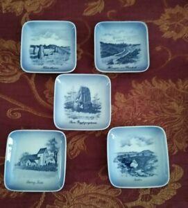 Royal Copenhagen Porcelain 5 x Minature Wall Plaques 985 - 3 5 9 10 13