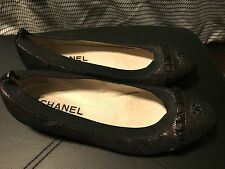 CHANEL -  Black Ballerina/flats - shoes size 7
