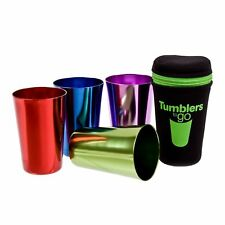 Tumblers Cup To Go Retro Portable Neoprene Anodised Tumbler Cups Camping