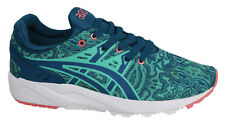 Asics Gel-Kayano Green Blue Lace Up Synthetic Womens Trainers H6N6N 4845 Y11A
