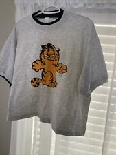 Vintage 70s 80s GARFIELD The Cat Giant Print Graphic T Shirt Size OSFA