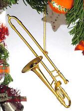 Gold Trombone Ornament