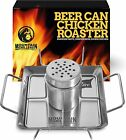 Beer Can Chicken Roaster Stand - Stainless Steel Holder - Barbecue Rack