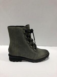 Sorel Phoneix Short Lace, Womens Boots, Waterproof Quarry Gray, Size US 8M.