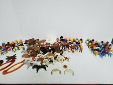 Vintage Playmobil 70's 80's And 90's 200 Figures 1000 Peices Rare