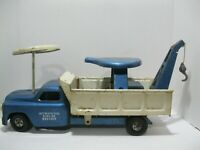 Vintage Structo Ride-Er Wrecker Tow Truck -Pressed Steel 1950s
