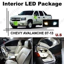 White LED Lights Interior Package Kit for CHEVY AVALANCHE 2007-13 ( 13 Pcs )