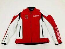 GIUBBOTTO IN PELLE UOMO MAN'S JACKET DAINESE DUCATI IOM 78 TG. 56 cod. 981040956