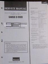 SANSUI D-990R cassette deck service repair workshop manual (original)