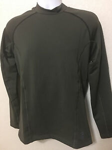 NWT Mn Nike 659816 325 Pro Hyperwarm FITTED Army Green Shirt Top Select Size $60