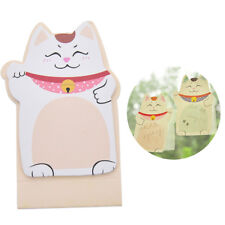Korean Lucky Cat Beckoning Maneki Neko Memo Lesezeichen Sticky Notes ZJHN