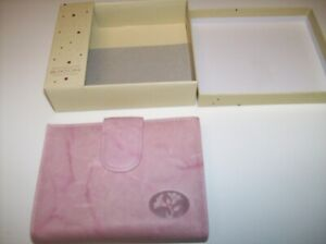 Women's Buxton Pink Leather Double Cardex Mid Size Wallet New In Box