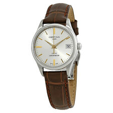 Certina DS 8 Silver Dial Ladies Leather Watch C033.251.16.031.01