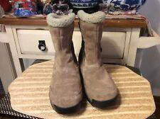 SOREL Women's Waterproof Suede Winter Snow Hiking Boots in Flax Sz 8 Euro 39