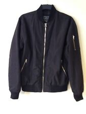 Men's black bomber jacket Size M. Autumn Spring Coat.