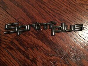 1986 Chevy Sprint Wagon Sprint Plus badge